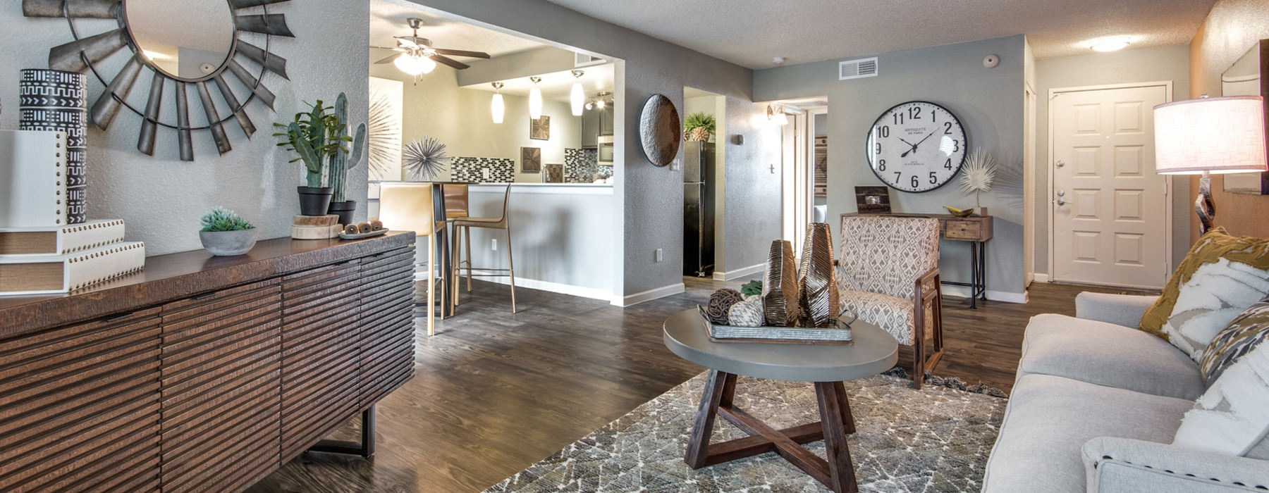 Open living concept in apartment units